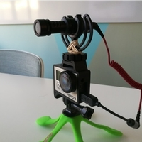 Small GoPro Hero Frame w Hot Shoe Mount 3D Printing 157392