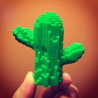 Small Minecraft Cactus 3D Printing 15743