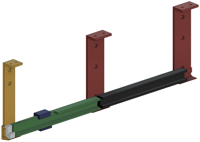 Rails for Reclaimed Refrigerator Drawer 3D Print 157464