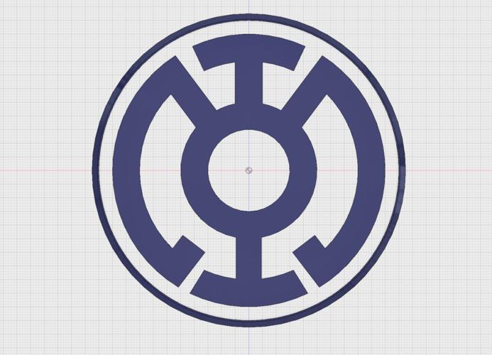 3d Printed Blue Lantern Corps Emblem By Blurrycorgi Pinshape
