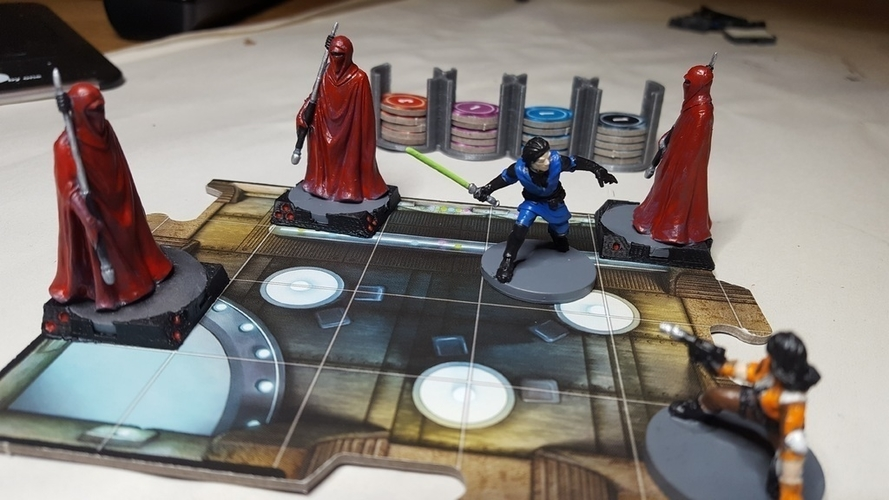 Star Wars Imperial Assault Squad Bases 3D Print 157471