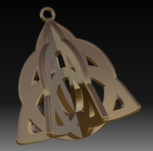 Celtic Earrings_V1 3D Print 157478