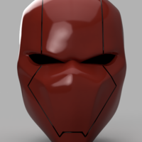 Small Red Hood Helmet Version 2 3D Printing 157525