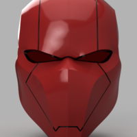 Small Red Hood Helmet Batman Version 3  3D Printing 157539