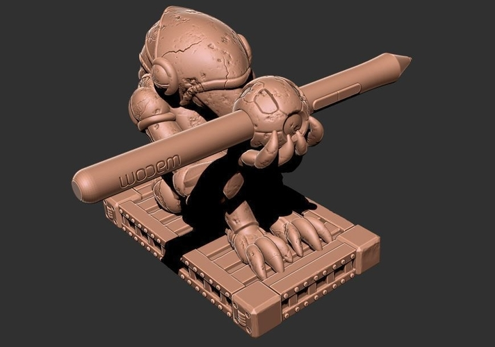 Chozo Super Metroid Pen Holder 3D Print 157716