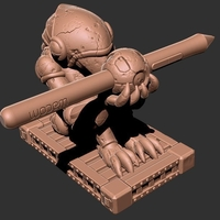 Small Chozo Super Metroid Pen Holder 3D Printing 157716