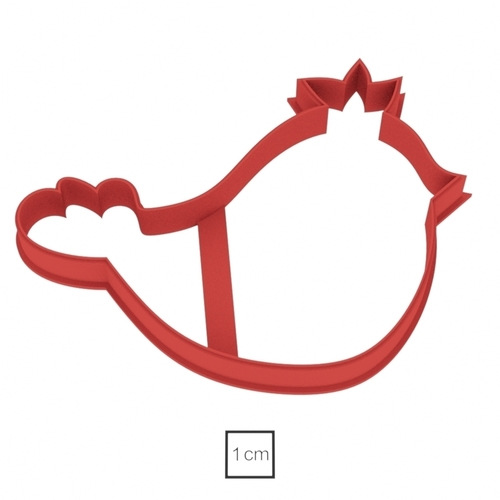 Bird with a crown cookie cutter for professional 3D Print 157729