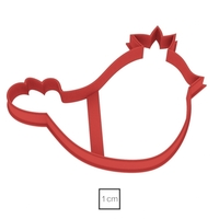 Small Bird with a crown cookie cutter for professional 3D Printing 157729