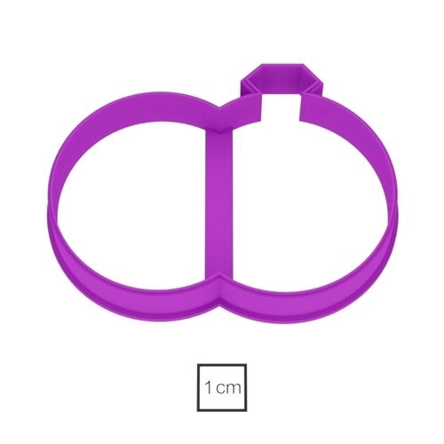 Rings cookie cutter for professional  3D Print 157737