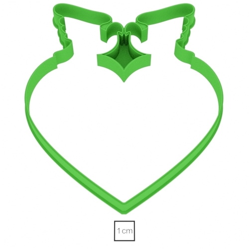 Heart with doves cookie cutter for professional 3D Print 157740