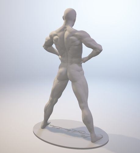 Naked Bodybuilder Statue with penis 3D Print 157747