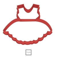 Small Dress Ballet cookie cutter for professional  3D Printing 157763
