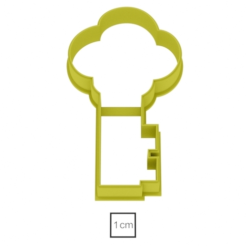 Golden Key cookie cutter for professional  3D Print 157767
