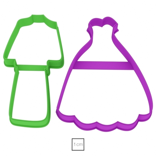 Set of costume and dress cookie cutter for professional 3D Print 157786