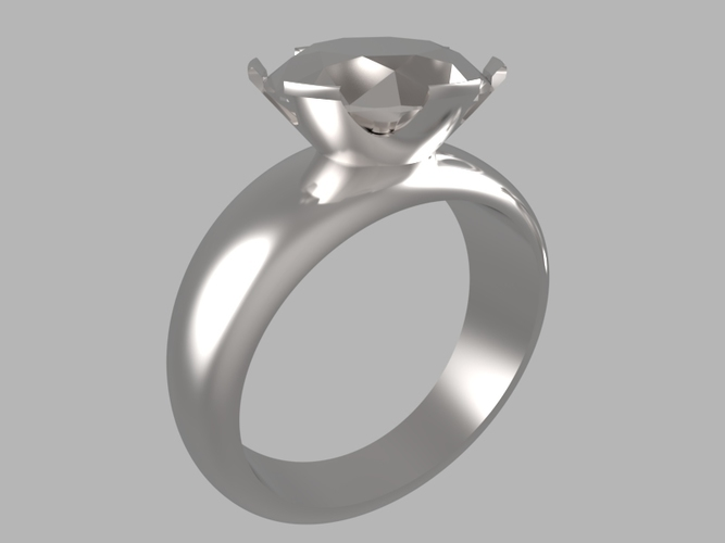 Diamond ring 3D Print 15783