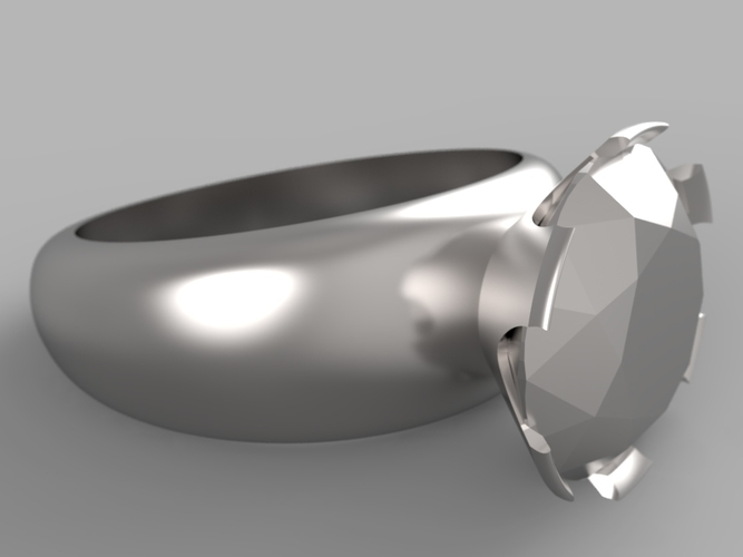 Diamond ring 3D Print 15784