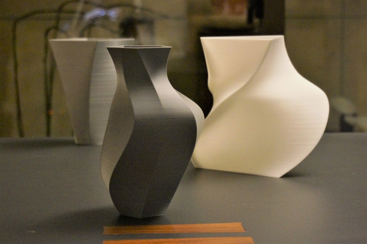 Contemporary 7-Vase Collection 3D Print 157876