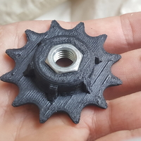 Small 12 tooth sprocket for standard bicycle chain 3D Printing 157882