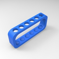 Small test tube rack (physical) 6 tubes 3D Printing 157916