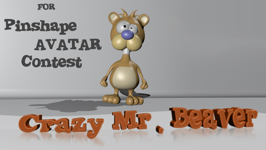 Crazy Mr. Beaver - Avatar 3D Print 157932