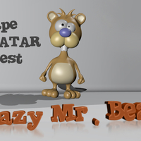 Small Crazy Mr. Beaver - Avatar 3D Printing 157932