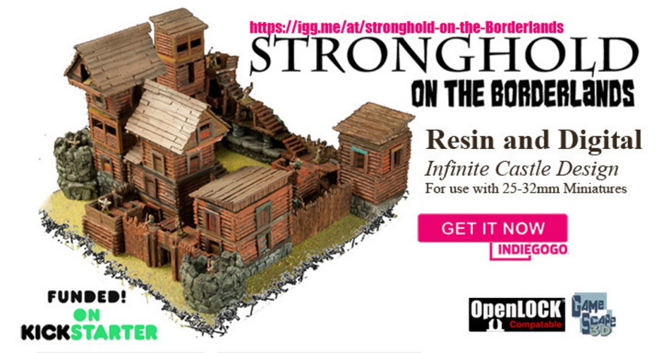 "Modular Outdoor Ruins for ""Stronghold on the Borderlands"" 3D Print 157949"