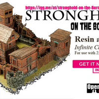 "Small Modular Outdoor Ruins for ""Stronghold on the Borderlands"" 3D Printing 157949"