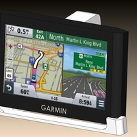 Small Garmin Nuvi 55 Dash Mount 3D Printing 158045