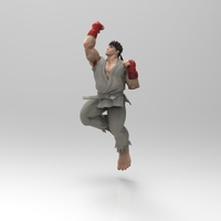 Small RYU - Shoryuken  3D Printing 158064