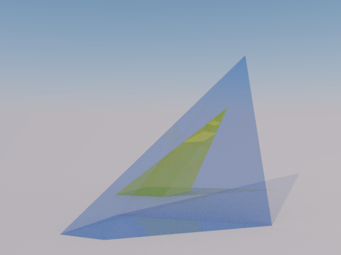 Intersection of 2 Pyramids 3D Print 158077