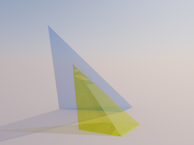 Intersection of 2 Pyramids 3D Print 158079