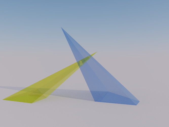 Intersection of 2 Pyramids 3D Print 158080