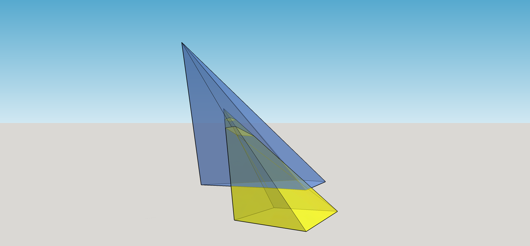 Intersection of 2 Pyramids 3D Print 158085