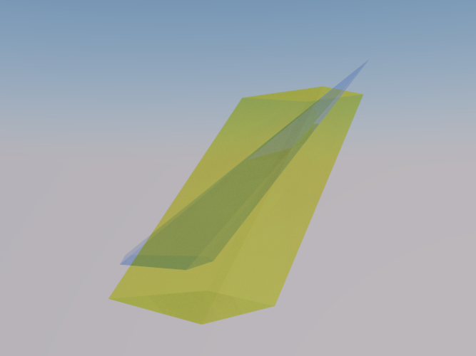 Intersection of a Pyramid and a Parallelepiped 3D Print 158089