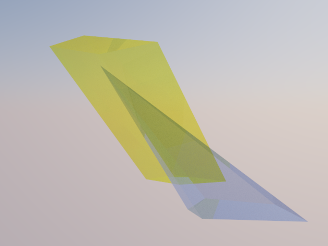 Intersection of a Pyramid and a Parallelepiped 3D Print 158091
