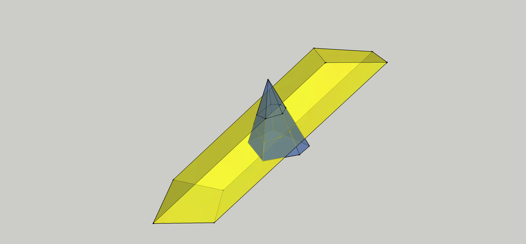 Intersection of a Pyramid and a Parallelepiped 3D Print 158093