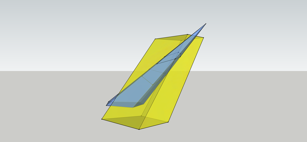 Intersection of a Pyramid and a Parallelepiped 3D Print 158095
