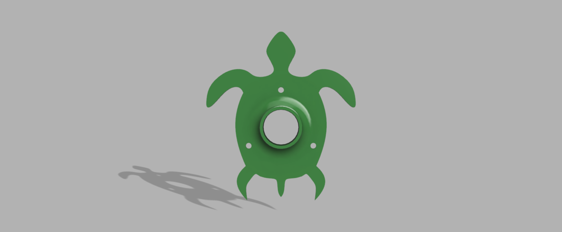 Turtle Dowel Holder 3D Print 158149