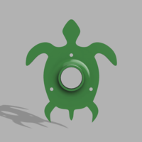 Small Turtle Dowel Holder 3D Printing 158149