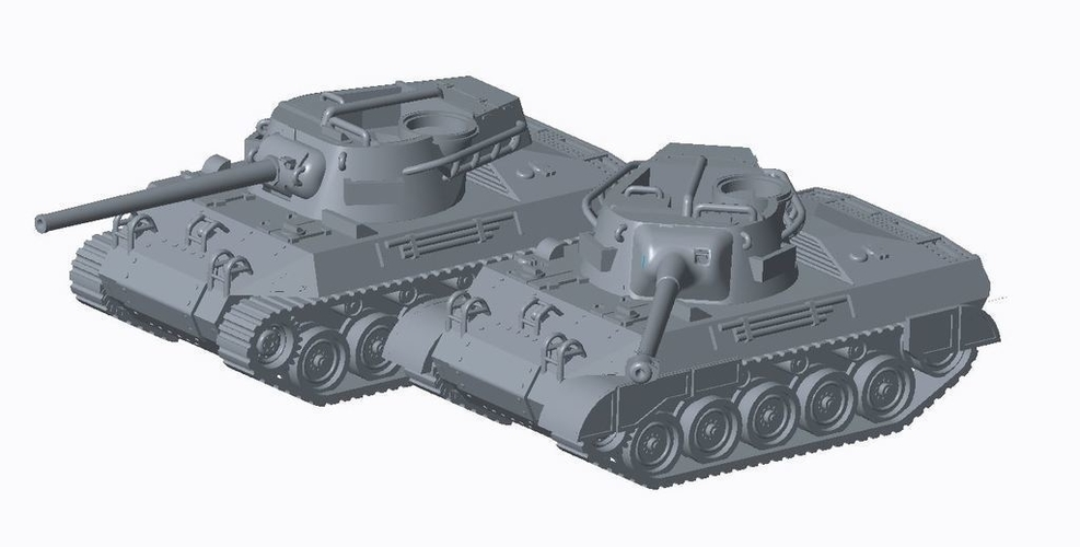 Allied Tank Destroyer Pack  3D Print 158189