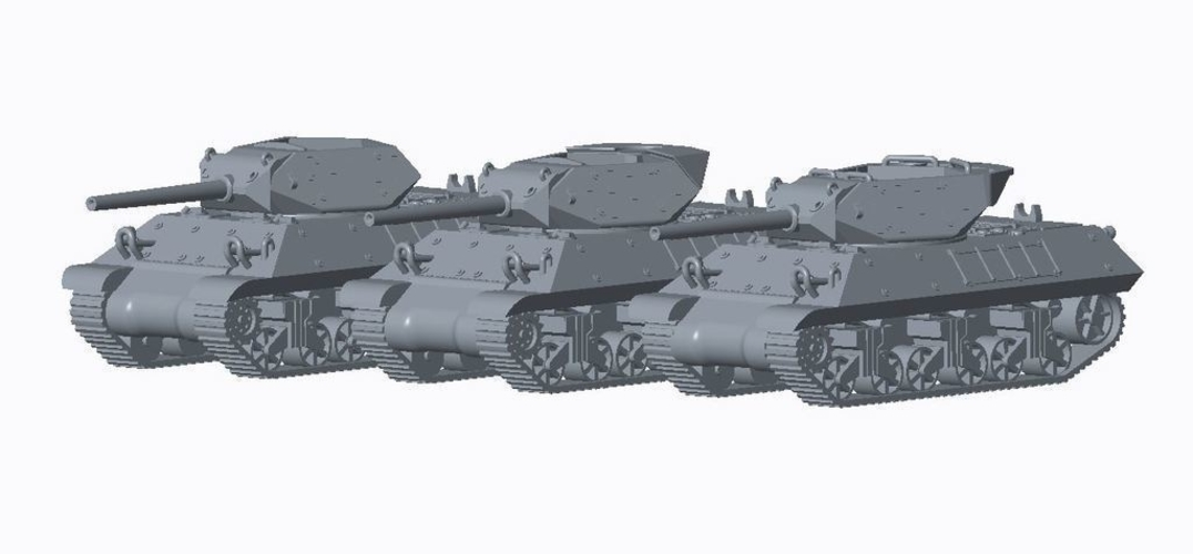 Allied Tank Destroyer Pack  3D Print 158191