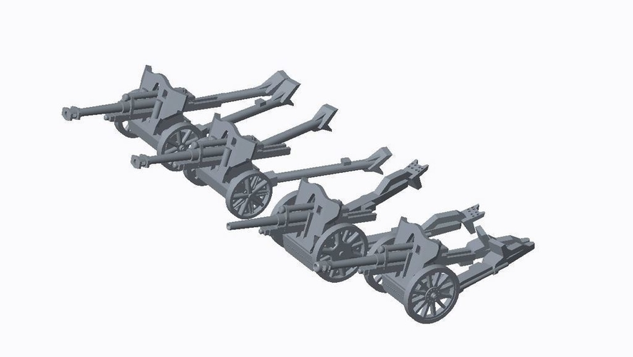 German Artillery Pack  3D Print 158248