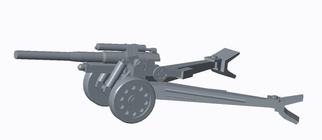 German Artillery Pack  3D Print 158249