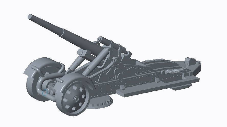 German Artillery Pack  3D Print 158251