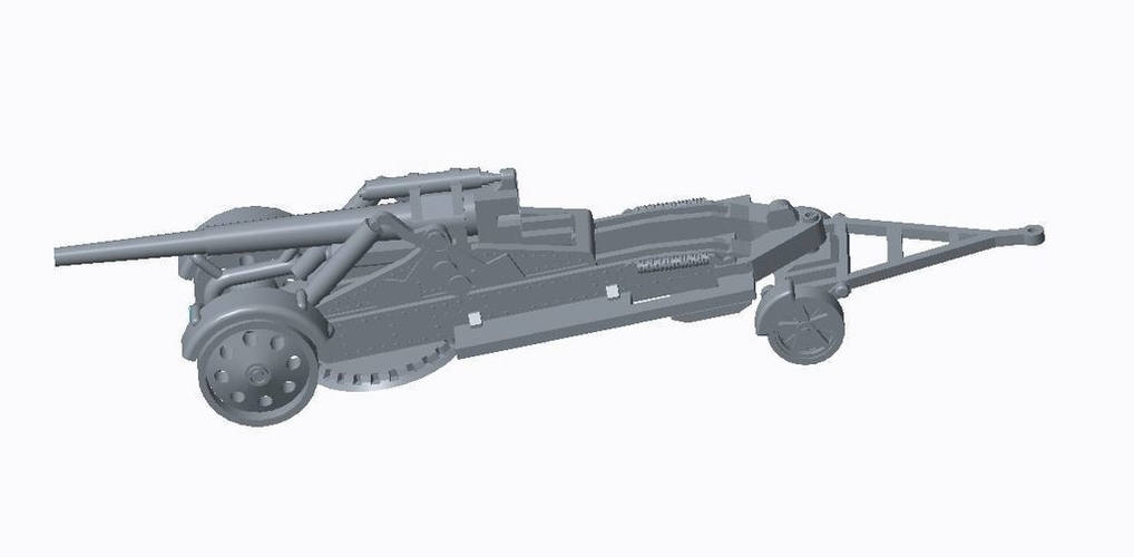 German Artillery Pack  3D Print 158252