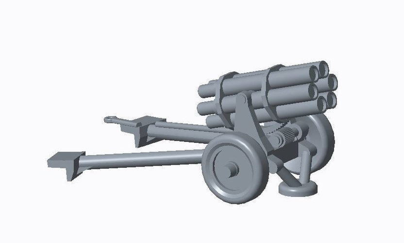 German Artillery Pack  3D Print 158254