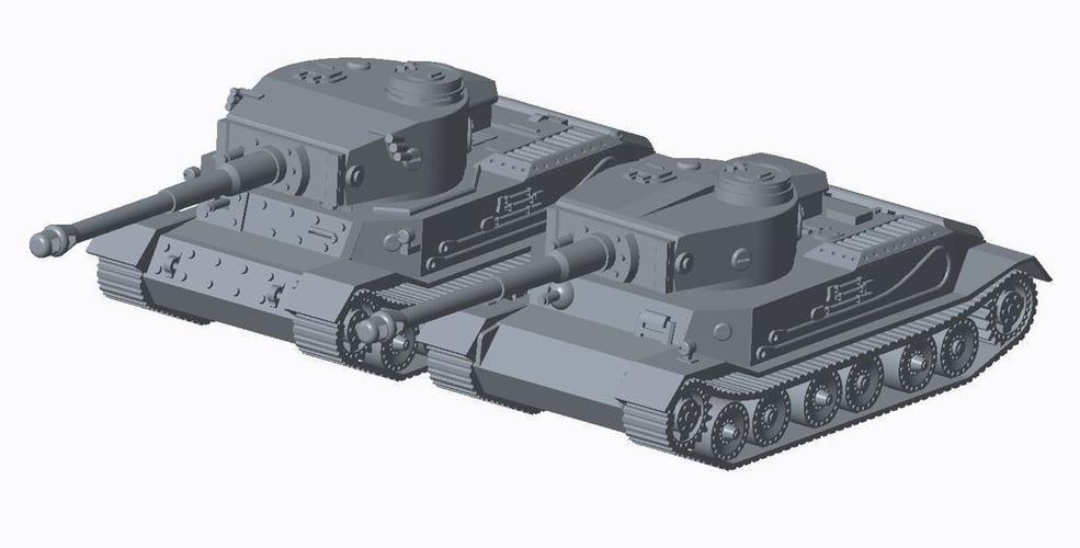 3D Printed Tiger Tank Pack by TigerAce1945   Pinshape