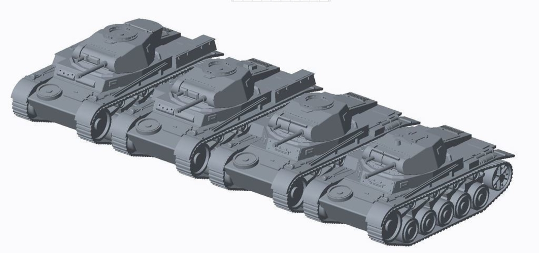 Panzer II pack (revised) 3D Print 158299