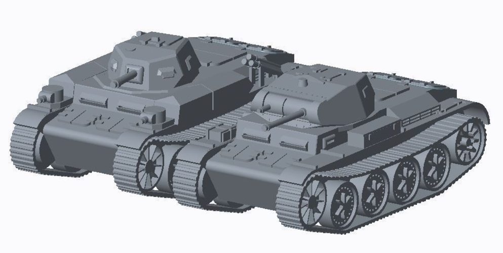 Panzer II pack (revised) 3D Print 158300