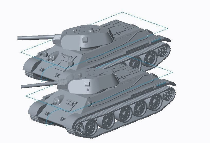 T-34/76 Tank Pack (Revised) 3D Print 158328